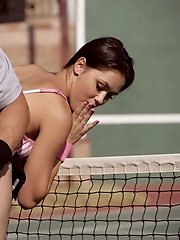 Kandi Milan gets hot at the tennis court.