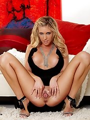 samantha Saint is all dressed up but underwear is not mandatory