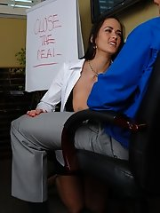 Carmella Bing gives her boss a blowjob